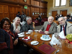 L to R - Susan Tamondong, Inga-Lill Aronsson, Chris deWet, Ted Downing, and Michael Cernea - pioneers meet at Oxford